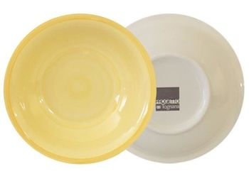 Тарелка 21cm глубокая Gypsy Yellow, керамика