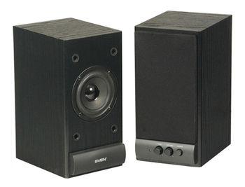 Active Speakers SVEN SPS-609 Black, RMS 10W, 2x5W, дерево/lemn (boxe sistem acustic/колонки акустическая сиситема)