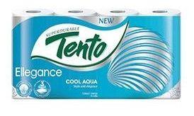 Туалетная бумага TENTO 3 слоя 18м*8 Cool Aqua