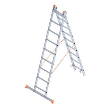 Лестница алюминиевая Sarayli Double Type A 2x9