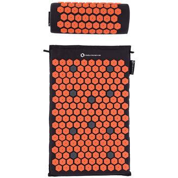 Акупунктурный набор (коврик + подушка) 65x42 см HMS Premium  AKM01 17-44-300 black-orange (4141)
