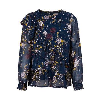 Блуза CREAMIE Синий с принтом