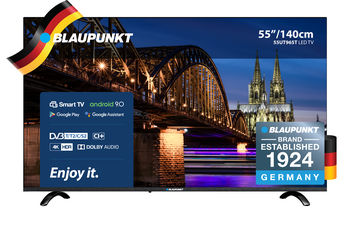 "55"" TV Blaupunkt 55UN265, Black (SMART TV)"