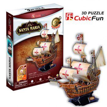 """CubicFun 3D пазл """"Santa Maria""""   (113 деталей)"""