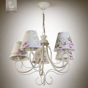 купить N&B Light Люстра Женева 6205-2 кремовый/беж с розами в Кишинёве