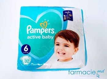 купить Scutece PAMPERS Active Baby 6 N32 (13-18kg) в Кишинёве