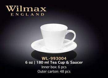 Чашка WILMAX WL-993004/ AB (с блюдцем 180 мл)
