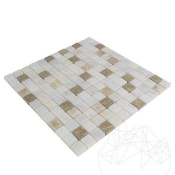 купить Мозаика Мраморная Альба - Оникс - Эмперадор Микс Полисата 2,3 х 2,3 см в Кишинёве