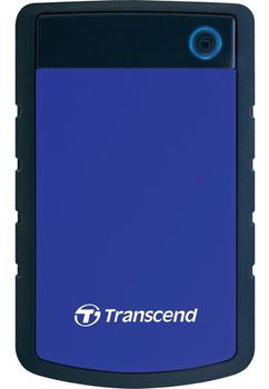 "cumpără 1.0TB (USB3.0) 2.5"" Transcend ""StoreJet 25H3B"", Rubber Grey/Blue, Anti-Shock, One Touch Backup în Chișinău"