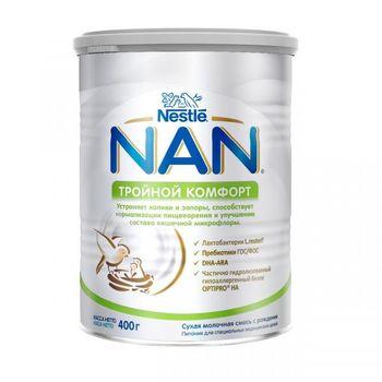 купить Nestle Nan Тройной комфорт молочная смесь, 0+мес. 400 г в Кишинёве