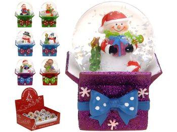 Сувенир Шар со снегом на подарке D4сm, керамика, 6 дизайнов