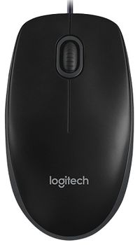 Mouse Logitech B-100 Optical, Black, USB