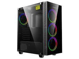 Корпус ATX GAMEMAX Draco XD, без БП, 4x120-мм вентиляторы ARGB. ARGB HUB, TG, пылевой фильтр, USB 3.1, черный