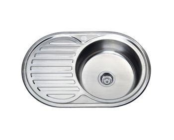 купить Мойка кухонная нержавеющая 0,6 мм (decor) 77/50 см прав 7750 R в Кишинёве