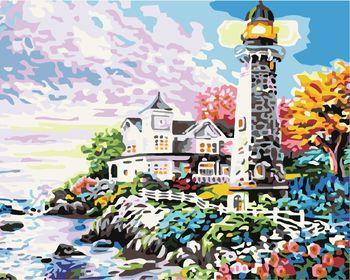 Яркий пейзаж у маяка