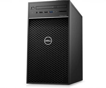 DELL Precision 3630 Tower, Intel Xeon E-2124, 4 Core, 8MB, 3.3GHz-4.3Ghz, 16GB (2*8GB) 2666MHz  DDR4 UDIMM, M.2 256GB PCIe NVMe SSD+1TB HDD 7.2Krpm, DVD-RW, NVIDIA Quadro P620 2GB Graphics, USB KB/MS, 460W 90% efficient PSU (80Plus Gold), Win 10 Pro