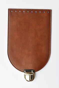 Clapă cu închizătoare pentru geantă/rucsac, Maro