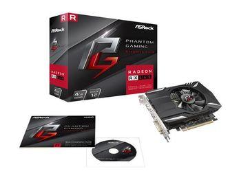 """купить """"VGA ASRock Radeon RX560 4GB GDDR5 Phantom Gaming //  AMD Radeon RX 560 (14CU), 4GB GDDR5, 128 bit, Engine 1223MHz (OC Mode), Memory 7028MHz (OC Mode), Active Cooling, DVI-D *1, DisplayPort 1.4 *1, HDMI 2.0b *1"""" в Кишинёве"""