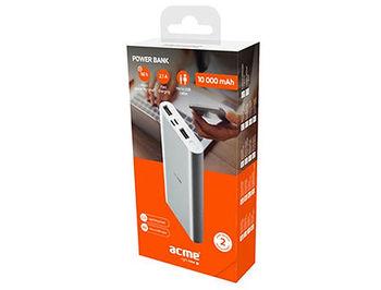 купить Внешний аккумулятор ACME PB15S 10000mAh, Silver в Кишинёве