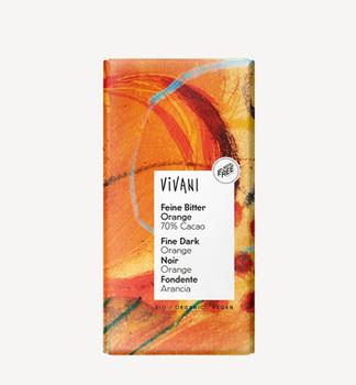 Ciocolată neagră cu orange bio Vivani 100 g