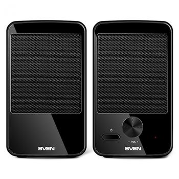 Speakers SVEN 312 Black (USB),  2.0 / 2x2W RMS, USB power supply, 2.75""
