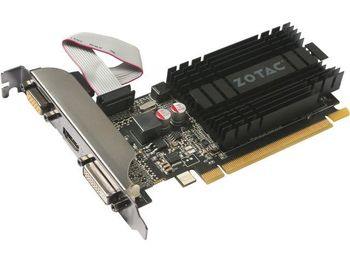 cumpără ZOTAC GeForce GT710 Zone Edition 2GB DDR3, 64bit, 954/1600Mhz, Passive Cooling, HDCP, DVI, HDMI, VGA, 2x Low profile bracket included, Lite Pack în Chișinău