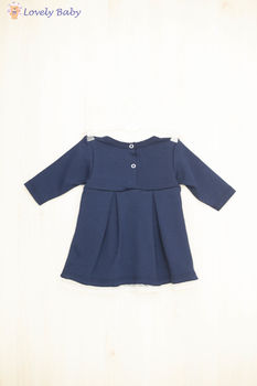 Rochie R05, albastru inchis 68 cm