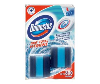 купить Кубики для бачка Domestos Total Hygiene Block Ocean, 2 шт x 50 г в Кишинёве