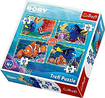 "34259 Trefl Puzzles - ""4in1"" - Underwater fun / Disney Finding Dory"