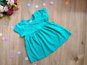 Платье летнее с коротким рукавом зеленое