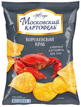 "Chips-uri ""Moscovskii Kartofeli"" Crab Royal 60g"