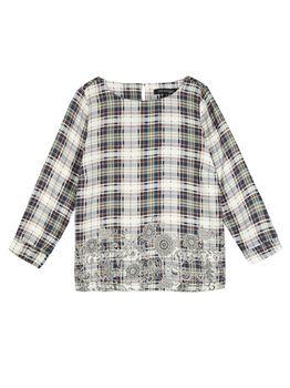 Блуза TOP SECRET В клетку