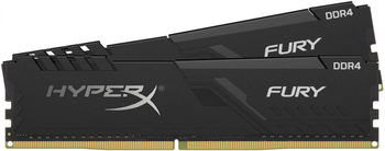 32GB (Kit of 2*16GB) DDR4-3600  Kingston HyperX® FURY DDR4, PC28800, CL17, 1.2V, Auto-overclocking, Asymmetric BLACK heat spreader, Intel XMP Ready  (Extreme Memory Profiles)