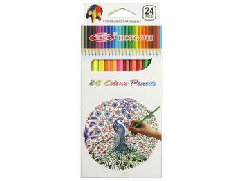 Set creioane colorate 24buc HW