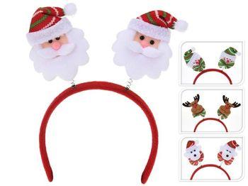 Обруч новогодний Фигурки Дед Мороз/медведь/олень/снеговик