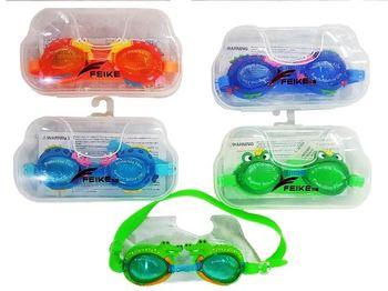 """Очки для плавания """"Feike"""" детские животные, в футляре"""