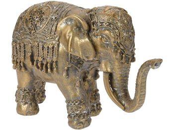 """Статуэтка """"Слон в накидке"""" керамическая,19.2X12.3X7cm,золото"""