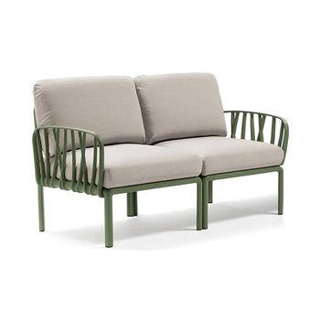 Диван с подушками c водоотталкивающей тканью Nardi KOMODO 2 POSTI AGAVE-TECH panama (Диван с подушками c водоотталкивающей тканью для сада и терас)