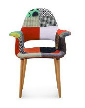 купить Мягкий стул с деревянными ножками, 730x610x940 мм, цветной в Кишинёве