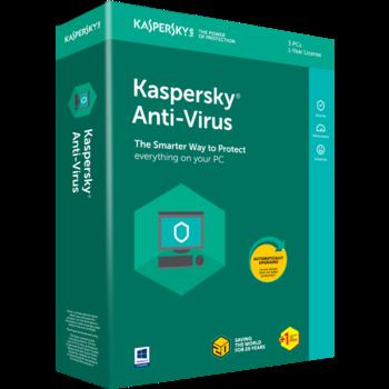 Kaspersky Anti-Virus BOX  2 Dt 1 Year Base