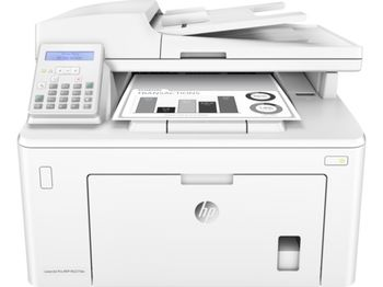 HP LaserJet Pro MFP M227sdn Print/Copy/Scan 28ppm, 256MB, up to 30000 monthly, 2 line screen, 1200dpi, Duplex, 35 sheets ADF,  Hi-Speed USB 2.0, Fast Ethernet 10/100Base-TX, HP ePrint, Apple AirPrint™, White