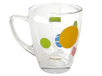 купить Чашка стеклянная конус 300ml, с рисунком в Кишинёве