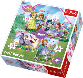 "Пазлы ""4 в 1""-""Sofia's world / Disney Sofia the First"", код 42198"