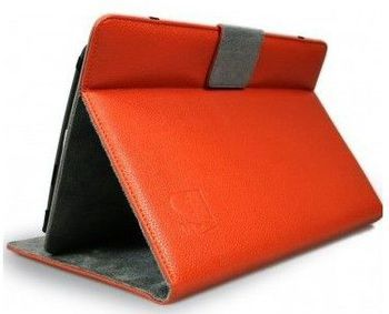 "7"" - Tablet Case - PORT ""DETROIT IV Universal 7"" - Orange,  / Inside size: 203 x 137 x 13.2 mm - Double Elastic System for better Compatibility, Adjustable Video Position, Magnetic Flap, Fabric: PU Leather /Floss Lining"