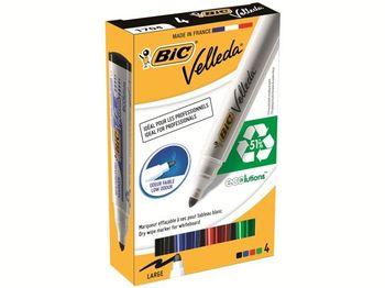 Набор маркеров для доски 4 шт BIC ECO Velleda 1701