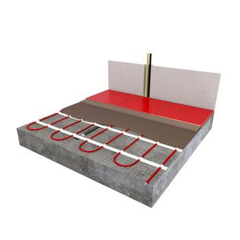 Электрический теплый пол 0,5 x 8,0 нагревательный мат (кабель) на сетке