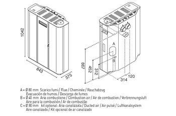 купить Печь пеллетная - DILETTA 10,5 кВт в Кишинёве
