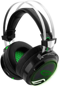 купить Headset Gaming Esperanza TOXIN EGH460, Green LED backlight, 1x mini jack 3.5mm + 1x USB 2.0, Drivers 40mm, Volume control, Cable length 2m, Weight 380g в Кишинёве