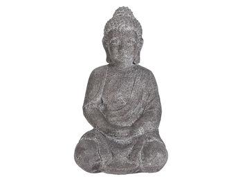 "Statuie ""Buddha asezat"" 46cm, gri"