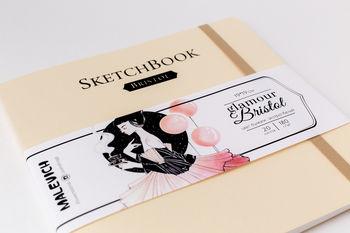 Скетчбук Малевичъ для графики и маркеров Bristol Glamour, кремовый, 180 гм, 19х19 см, 20л